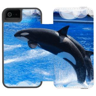 Ballena de la orca funda cartera para iPhone 5 watson
