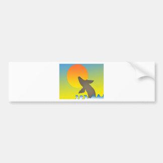 ballena de la puesta del sol etiqueta de parachoque