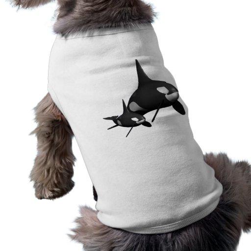 Ballena de Momma Camisetas De Perro