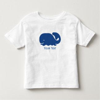Ballena de muy buen gusto azul náutica playera de bebé