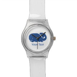 Ballena de muy buen gusto azul náutica reloj