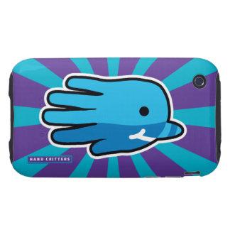Ballena de Narwhal del bebé azul que nada Tough iPhone 3 Carcasa