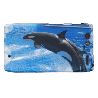 Ballena de salto de la orca droid RAZR funda