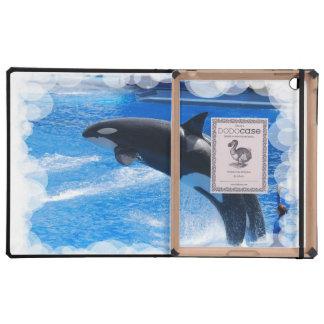 Ballena de salto de la orca iPad carcasas