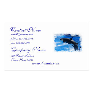 Ballena de salto de la orca tarjeta de visita