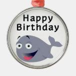 Ballena de una época - feliz cumpleaños adornos