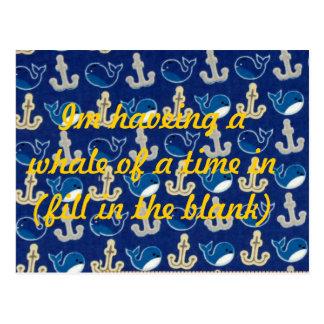 ballena de una postal del tiempo