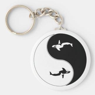 Ballena de Yin Yang Llavero Personalizado