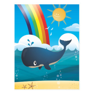 Ballena del arco iris postal