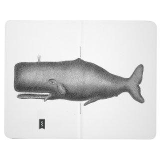 Ballena del vintage cuadernos grapados