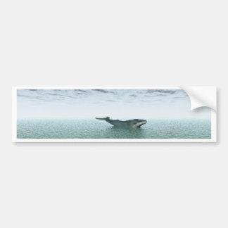 Ballena en el mar pegatina para auto