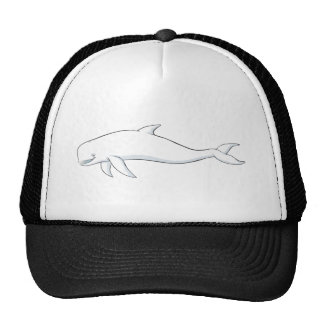 Ballena feliz de la beluga gorros bordados