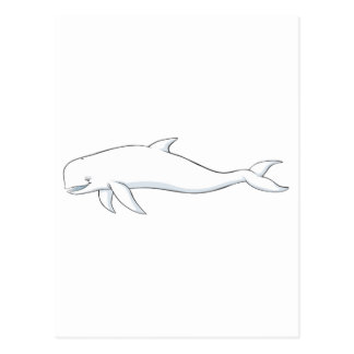 Ballena feliz de la beluga postales