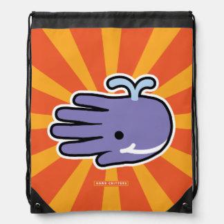 Ballena feliz de la púrpura de la sonrisa mochila