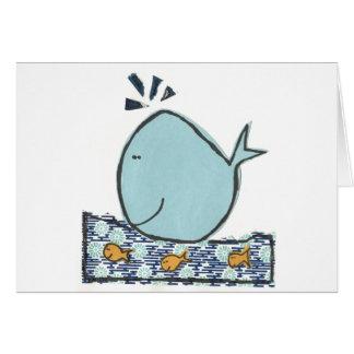 Ballena feliz grande tarjeta de felicitación