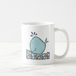 Ballena feliz grande taza de café