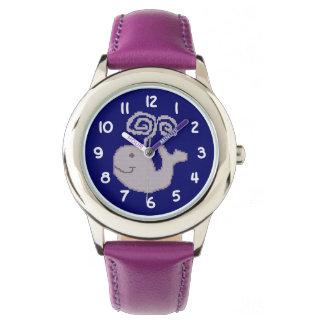 Ballena feliz reloj de mano