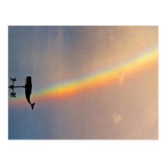 Ballena Hawai'i del arco iris Tarjetas Postales