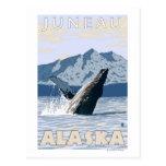 Ballena jorobada - Juneau, Alaska Tarjeta Postal