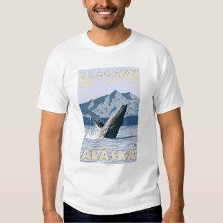 Ballena jorobada - Skagway, Alaska Polera