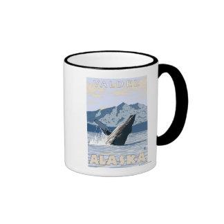 Ballena jorobada - Valdez Alaska Tazas De Café