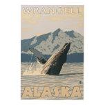 Ballena jorobada - Wrangell, Alaska Impresión En Madera