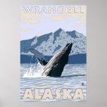 Ballena jorobada - Wrangell, Alaska Póster
