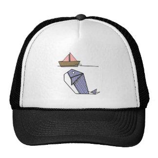 Ballena linda de Argyle Origami Gorra