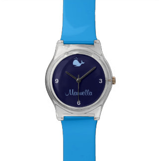 ballena linda de encargo reloj de mano