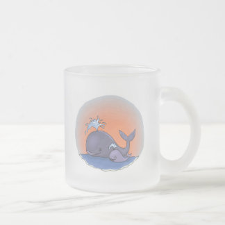 ballena linda de la mamá y del bebé tazas de café