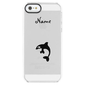 Ballena linda de la orca funda clearly™ deflector para iPhone 5 de uncommon
