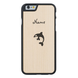 Ballena linda de la orca funda de iPhone 6 carved® de arce