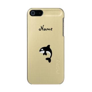 Ballena linda de la orca funda para iPhone 5 incipio feather shine