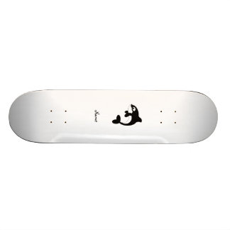 Ballena linda de la orca skateboards