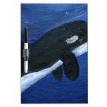 Ballena linda de la orca pizarras