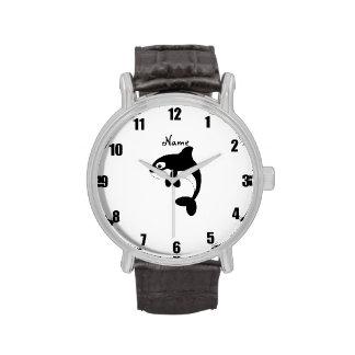 Ballena linda de la orca relojes de pulsera