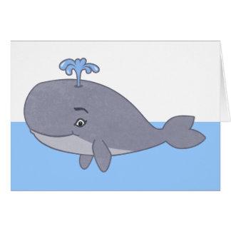 Ballena linda del dibujo animado tarjeta de felicitación