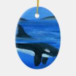 Ballena majestuosa de la orca adorno