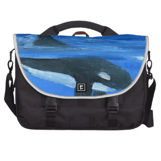 Ballena majestuosa de la orca bolsas para portatil