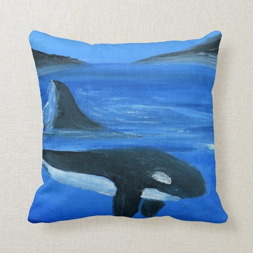 Ballena majestuosa de la orca cojin