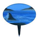 Ballena majestuosa de la orca figuras para tartas