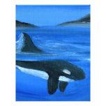 Ballena majestuosa de la orca membrete