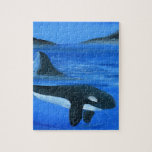 Ballena majestuosa de la orca rompecabeza
