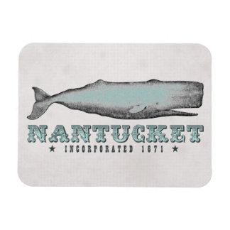Ballena Nantucket Massachusetts inc. del vintage Imanes Flexibles