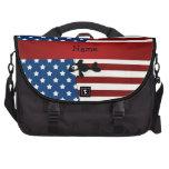 Ballena patriótica conocida personalizada bolsas para portátil