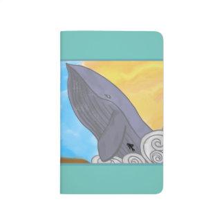 Ballena, pescados, y los elementos cuadernos grapados