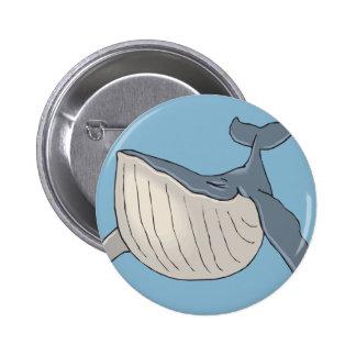 ballena pin redondo de 2 pulgadas