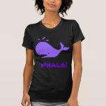 ¡Ballena! Púrpura. Personalizable Camisetas