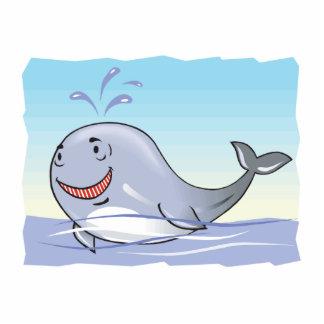 ballena que salpica feliz esculturas fotograficas
