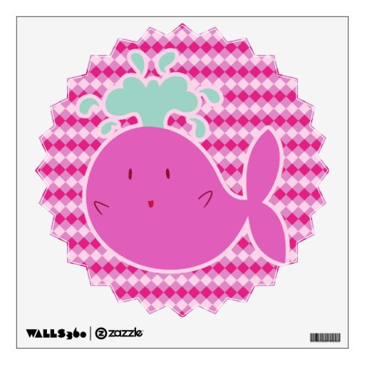 Ballena rosada linda del dibujo animado